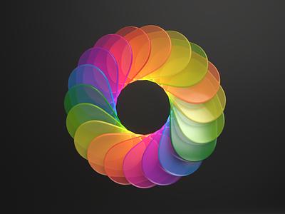 Color circle arnoldrender illustration modeling cinema4d c4d 3d