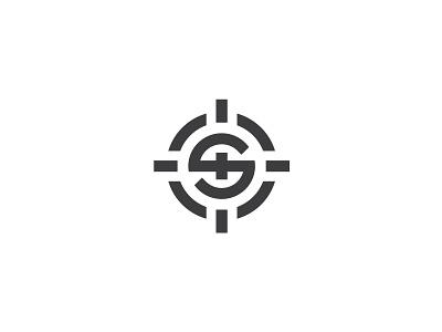 S Letter Sniper Aim Logo target mark design minimal logo sign logotype s letter logo s logo letter geometry aim