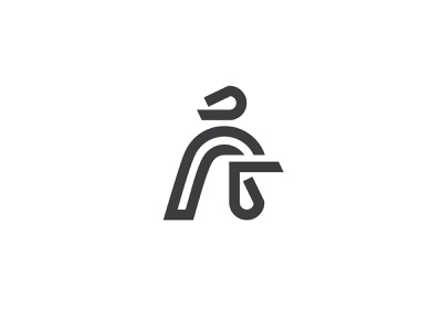 Rooster rooster head rooster logo rooster geometry logotype line minimal mark logo