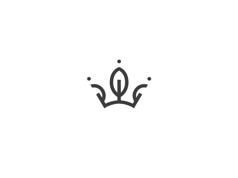 eco crown logo by taras boychik dribbble
