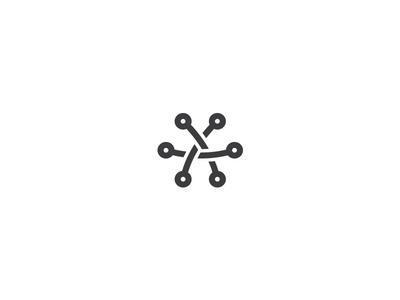 Hexa Connect Logo dot point triangle internet tech it web connect logotype logo hexagon hexa