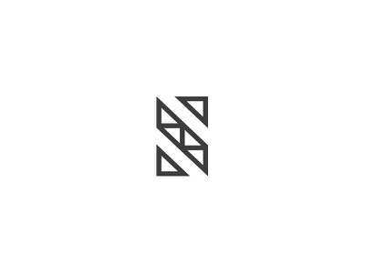 Letter S type logotype logo clean minimal triangle geometry letter s