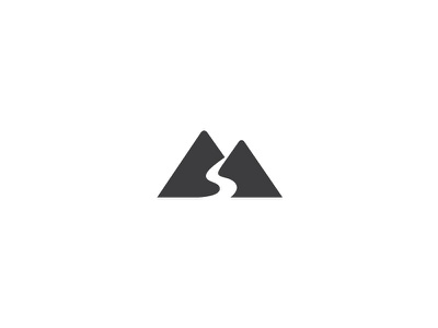 Mountain River Logo vacation tour adventure logo nature water high hill road way river mountain