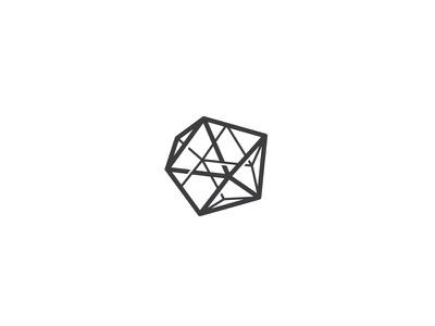 Geometrum vector shape construction web connect steel gem stone logo line abstract geometry