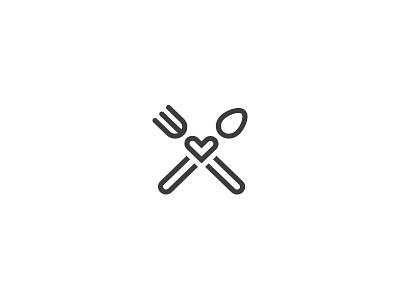 FreshBytes.io menu cook cafe fast business food restaurant minimal logo fork spoon like
