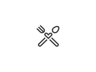 FreshBytes.io menu cook cafe fast business food restaurant minimal logo fork spoon like