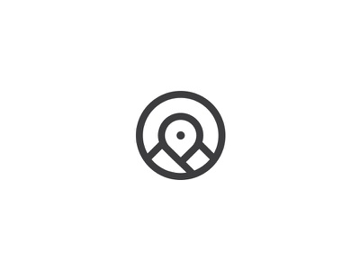 Mountain Spot  circle. vision eye camera photo video target map spot point mountain logo