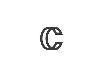 Letter C it web connect one minimal clean typo type logo line c letter