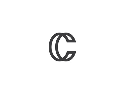 Letter C it web connect one minimal clean typo type logo line c letter