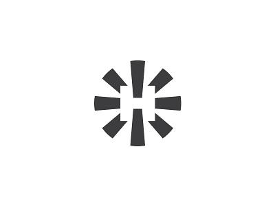 Нове Світло (New Light) • Letter H equipment glow shine lettermark h logotype mark logo light