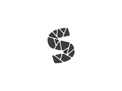 Letter S symbol mark minimal stone logotype logo lettermark letter s
