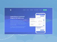 Telegram bot landing page