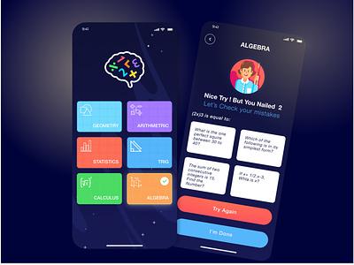 Math Apps illustration vector math mathematics application ui user experience design ux ui