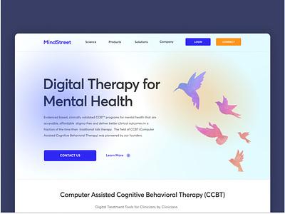 Mindstreet Website design website design typography branding vector minimal user experience ux ui
