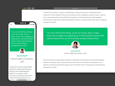 Quotation design quotation mobile responsive web minimal design ui