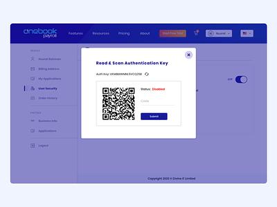 QR Code dashboard ui minimal web application ui qr code qr ux design ui