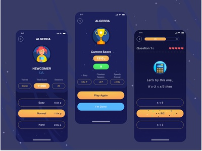 MATH educational education app math mathematics minimal application ui design ui