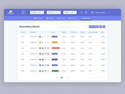 Inventory Stock Dashboard List ui web user experience inventory list list dashboard inventory ux design finance
