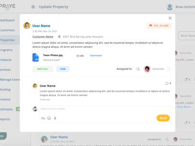 Notes Details web application design ui popup notes