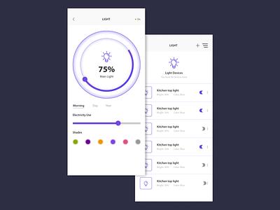 Light Controller application ui ux design application ui smarthome