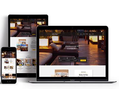 Luxury Hotel Reservation Website Design minimal website web ux branding design ui