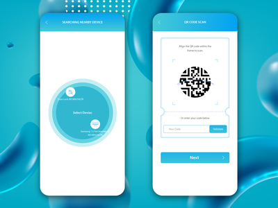 Search Devices  &  Qr Code Scan icon typography branding app web minimal design ux ui