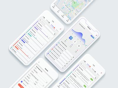 Task Management user experience mobile app design mobile app application ui design web illustration design app ux ui