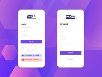Apps Login page design