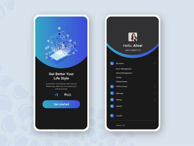 Smart Home mobile app design user experience web minimal illustration application ui app design ux ui