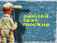 Painted Text Mockup   Free
