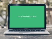 Realistic Macbook Mockup   Outdoor Blurred Background