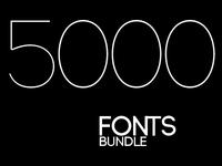 5000 Fonts Bundle