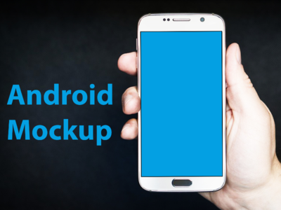 Realistic Android Smart Phone Mockup apps mockup samsung mockup smartphone mockup android mockup