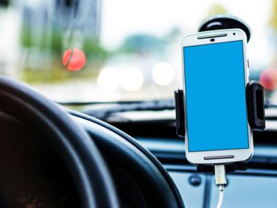 Realistic Android Phone Car Mockup mockup car phone android realistic