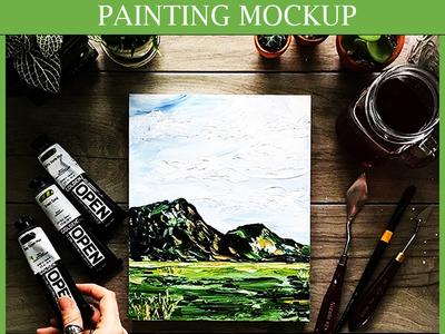 Realistic Painting Mockup Download free mockup download psd download painting paper mockup realistic painting board mockup painting mockup