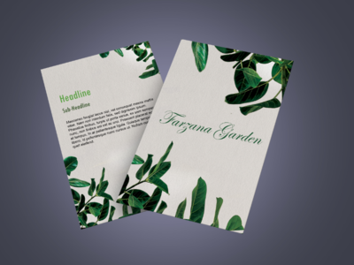 Download Minimal Flyer (Nature) corporate flyers business flyers download flyers