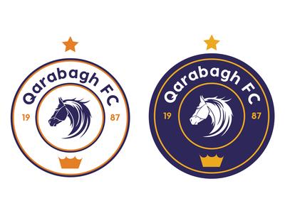 Logo rebranding for Qarabagh FC white championship club decoration shiny futball element icon design glossy style vector illustration ball football logo sport soccer isolated symbol