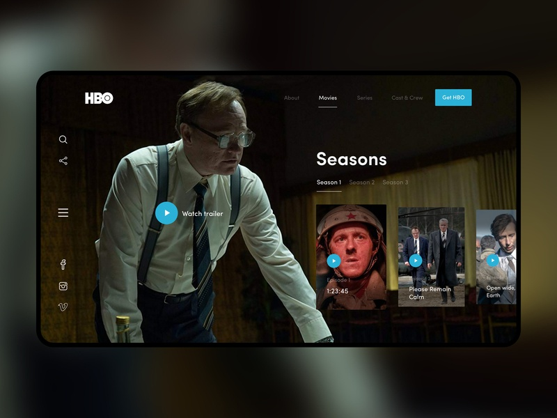Chernobyl HBO website design website minimal episodes clean ui series disaster concept site uiuxdesign uiux ux ui chernobyl hbo