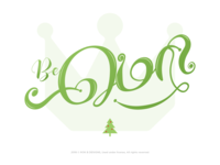 Be Merry - Tamil Calligraphy Typography - ROK B DESIGNS ®