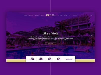 Hotel Website, Viola vacation travel logo branding web hotel design ui ux