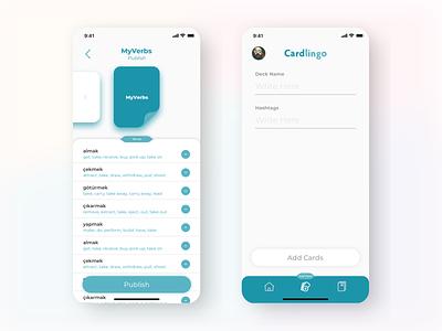Cardlingo - Language Learning mobile words language icon typography language learning animation logo branding design app ui ux