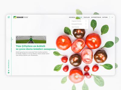 Demagro Agriculture main page agriculture web design website web webdesign design ui ux