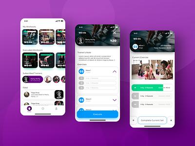 Training App mobile fitness gym sports training app training ui ux design app