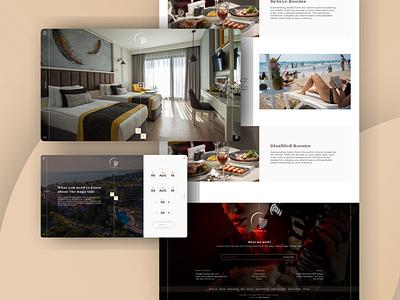 Hotel Website, Raga I website vacation travel hotel logo branding ux ui design