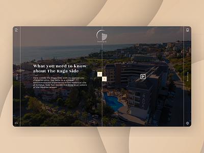 Hotel Website, Raga III landing landing page website logo branding ux ui vacation travel hotel