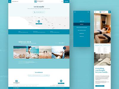 Hotel Website, Master Family Club II social location contact vacation logo branding ux design ui hotel