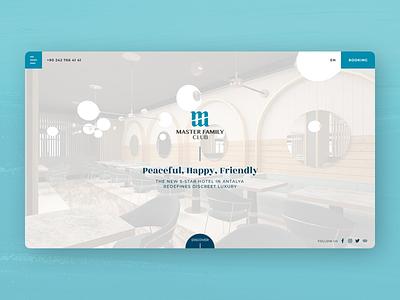 Hotel Website, Master Family Club III ux hotel booking landing page website design ui