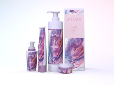 cosmetic 3d art modeling packagingdesign packaging pink design cinema4d 3d branding cosmetic