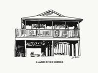 Custom Llano River House Sketch