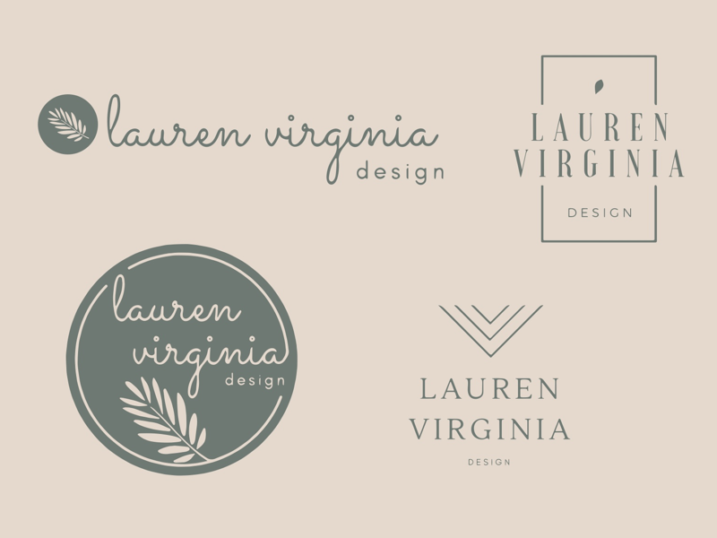 Lauren Virginia Design (Jewelry) full lockup icon circle etsy lauren virginia leaf leaves metal stone leather script natural branch branding logo jewelry